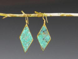 Patinated earrings