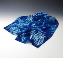 Ferns, cyanotype scarf